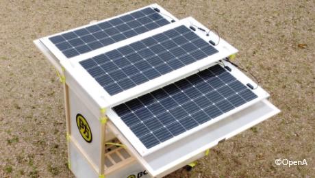 ソーラー発電なので日光があれば電気が使えない場所でも使えます
