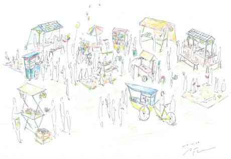 平常時にもBOSAI屋台村をつくり日常から人々が集う場を提供する